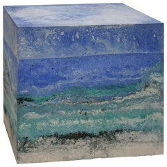"""""""Core 19"""" Stuccoed Marble Spanish Side Table"""