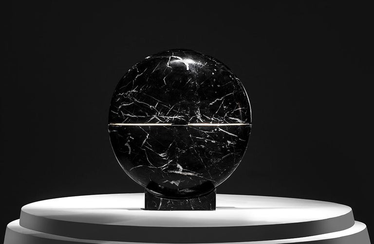 Modern Core Marble Table Lamp by Carlos Aucejo For Sale
