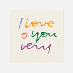 I Love You Very by Corita Kent (Sister Mary Corita) (INV# NP3219)