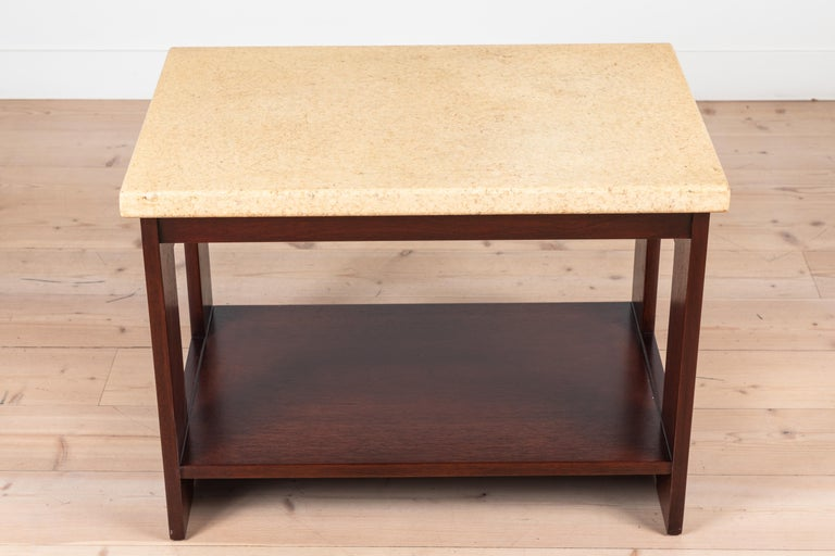 Cork and mahogany side table side table by Paul Frankl.