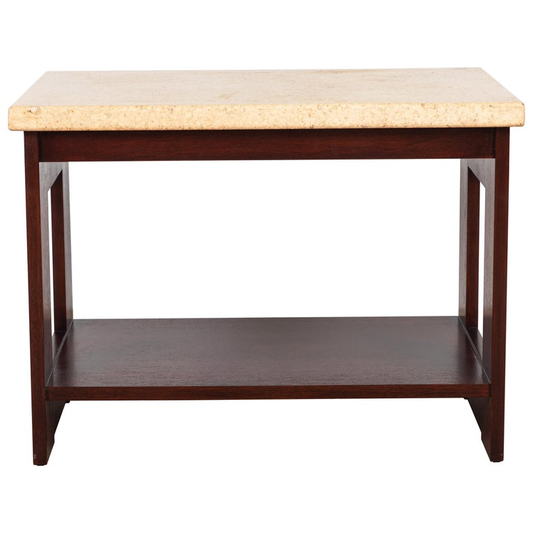 Cork and Mahogany Side Table Side Table by Paul Frankl For Sale
