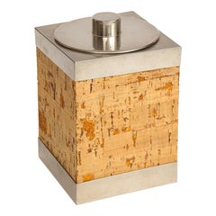 Cork and Silver Ice Bucket