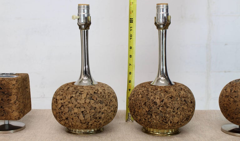 20th Century Cork Desk Tools Lamps For Sale