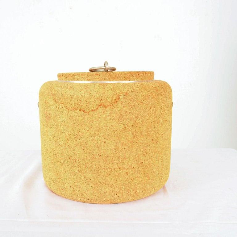 Mid-Century Modern Modernist Cork Ice Bucket by Signe Persson-Melin for Boda Nova, Sweden, 1970s For Sale