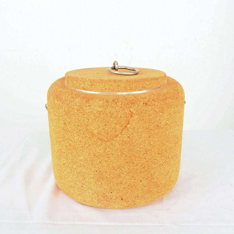 Late 20th Century Modernist Cork Ice Bucket by Signe Persson-Melin for Boda Nova, Sweden, 1970s For Sale