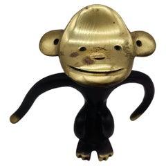 Cork Screw in Ape Shape, Brass Blackened, Walter Bosse/Herta Baller Vienna