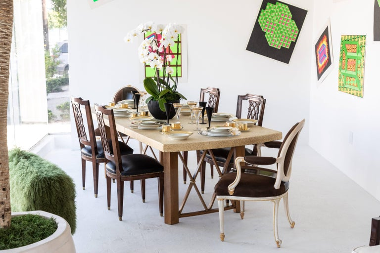 dining room furniture cork | Cork-Top Extension Dining Table by Paul Frankl For Sale at ...