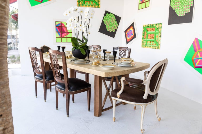 Cork Top Extension Dining Table by Paul