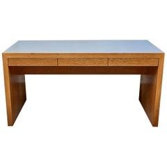 Cork-Topped Oak Parkman Desk by Lawson-Fenning