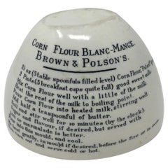 Corn Flour Blanc-Mange, Brown & Polson's English Mold