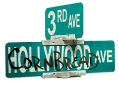 """Cornbread Hollywood Ave"", Graffiti, Sign, Street Art, Free-Standing Sculpture"
