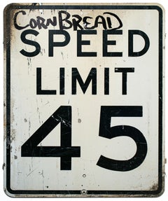 """Cornbread Speed Limit"", Painted Speed Limit Sign, Street Art, Graffiti"