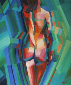 Cubistic nude 02 (2013), Painting, Oil on Canvas
