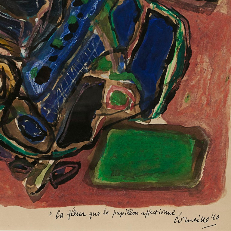 Scandinavian Modern Corneille 'COBRA' Painting For Sale