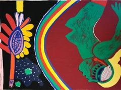 "Guillaume corneille ""La femme et l'oiseau"" Silkscreen printing"