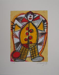 Little Clown in Red and Yellow - Original handsigned lithograph - 200 ex