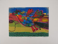 Tribute to Mozart : Firebird - Original handsigned lithograph
