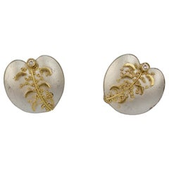 Cornelia Goldsmith Sterling Silver & Granulated High Karat Gold Diamond Earrings