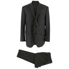Corneliani Anthracite Grey Single Breasted Suit - Size EU 52