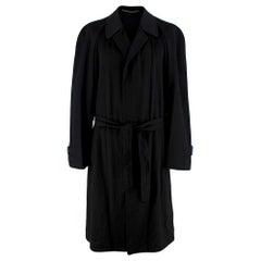 Corneliani Black Cashmere Trench Coat - Size Large