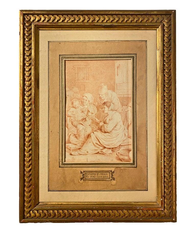 Peasant Family, Cornelis Bega. Dutch Golden age painter and engraver. - Painting by Cornelis Bega