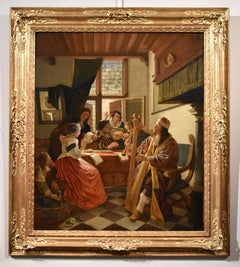 De Man Musical Company Flemish Paint Oil on canvas Old master 17th Century Art