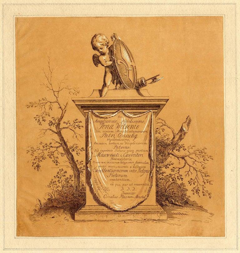 Cornelis Ploos van Amstel Figurative Art - Untitled - Titleprint for the set of printdrawings.