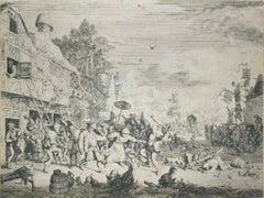 The Kermesse - Original Etching by Cornelis Dusart - 1686