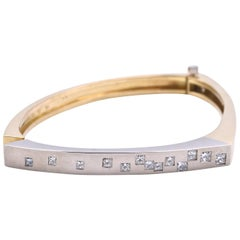 Cornelius Hollander 18 Karat Yellow Gold Diamond Bangle