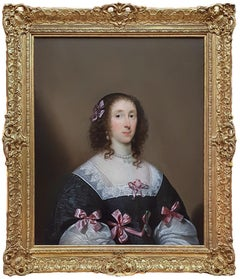 Portrait of Elizabeth Penyston; Cornelius Johnson (1593-1664), Signed and Dated