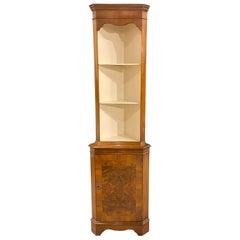 Corner Cabinet 18th Century Styling in Mahogany with Walnut Burr