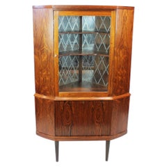 Corner Cabinet with Bar Cabinet in Rosewood of Danish Design from the 1960s