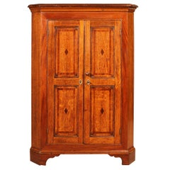 Corner Cupboard in Oak, 18th Century Georgian Period