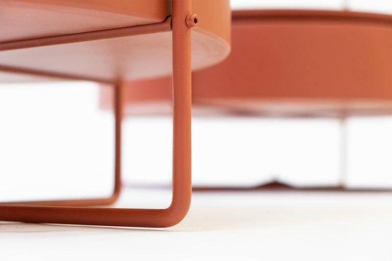 Metal Corner Cupboard, Shelf, Open Shelf Unit, Coffee Table For Sale