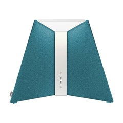 Corner Office Table Lamp 15 in Turquoise by Pablo Designs