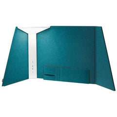 Corner Office Table Lamp 30 in Turquoise by Pablo Designs