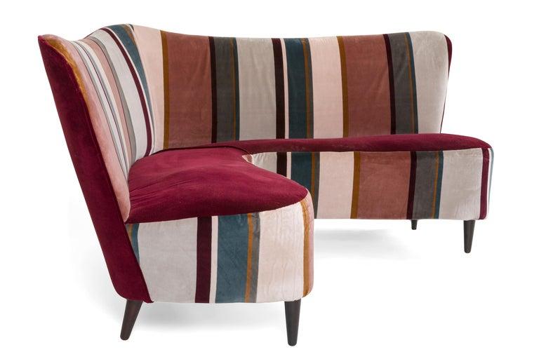 Italian Corner Sofa/Settee, Italy, 1950s For Sale