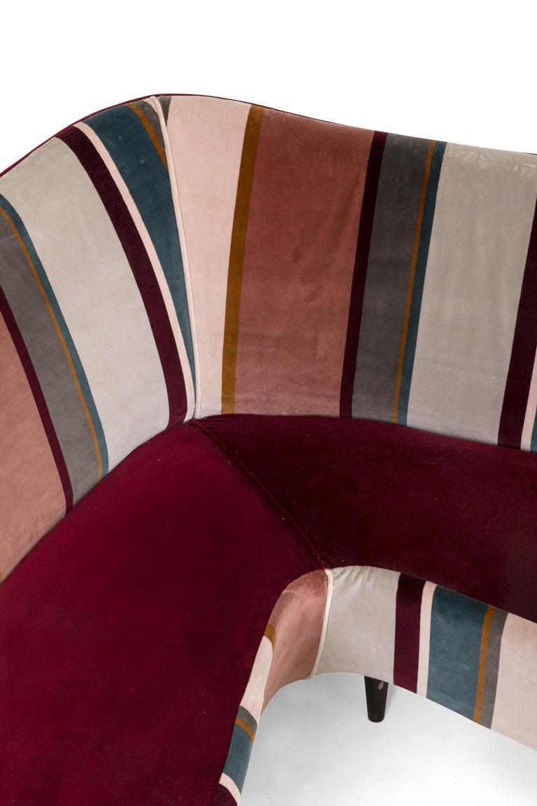 Mid-20th Century Corner Sofa/Settee, Italy, 1950s For Sale