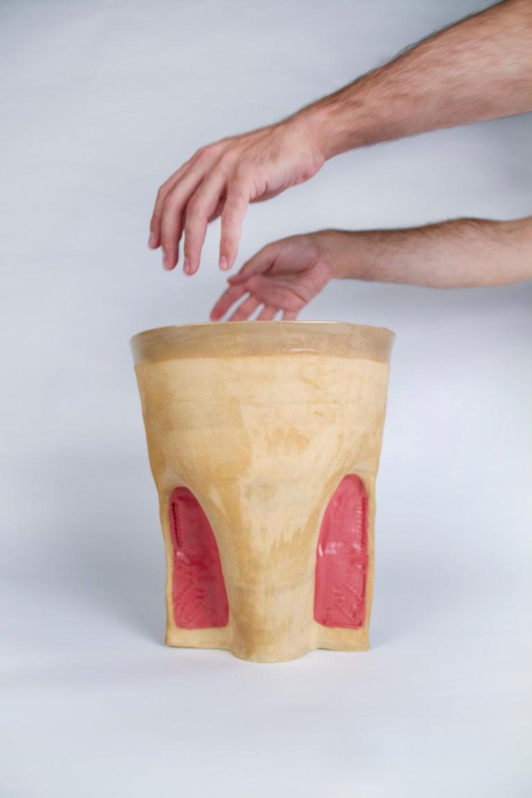 Modern Corniche Vase by Faissal El-Malak For Sale