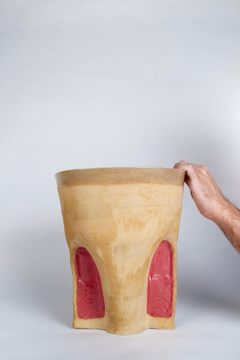 Emirian Corniche Vase by Faissal El-Malak For Sale