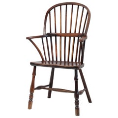 Cornish Stick Back Windsor Chair, English, West Country, Elm Ash, Armchair