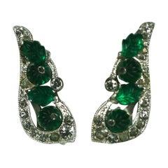 Coro Art Deco Fruit Salad Earrings