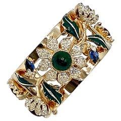 "Coro Craft ""Carmen Miranda"" Camelia Cuff Bracelet from 1939"