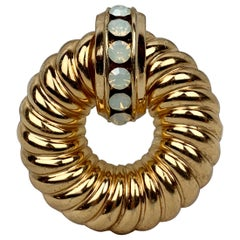 Shrimp Style Gold Filled Brooch by CORO, Signed, circa 1940s