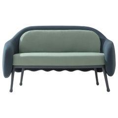 Corolla 273 Green and Blue Sofa by Cristina Celestino