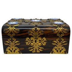 Coromandel Box with Gilt Bronze Wedgwood Jasperware Medallions, English, 1890