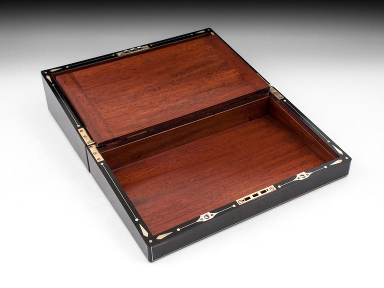 Coromandel Mother-of-Pearl Writing Box by W. C. Fuller, 19th Century For Sale 4