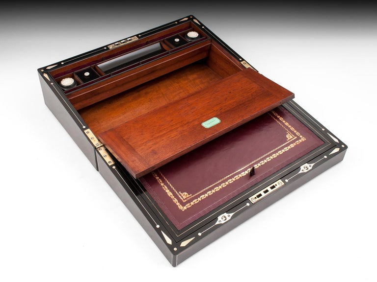 Coromandel Mother-of-Pearl Writing Box by W. C. Fuller, 19th Century For Sale 5
