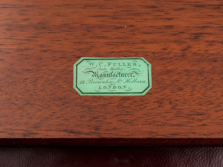 Coromandel Mother-of-Pearl Writing Box by W. C. Fuller, 19th Century For Sale 6