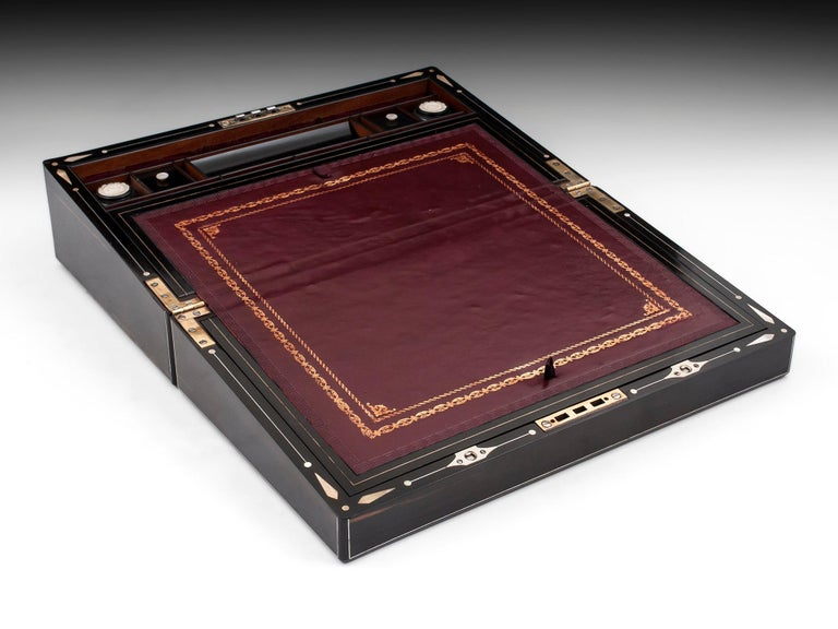 Coromandel Mother-of-Pearl Writing Box by W. C. Fuller, 19th Century For Sale 3